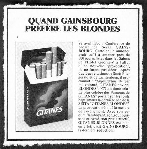 Gainsbourg prefere les blondes