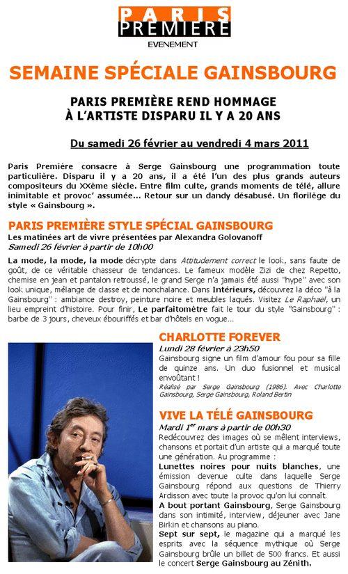 Gainsbourg hommage paris premiere