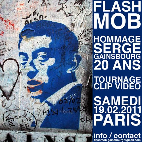 Gainsbourg gainsbarre flashmob hommage paris
