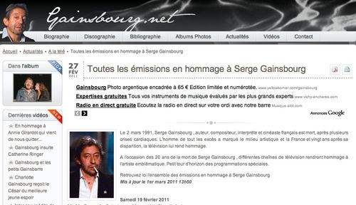Gainsbourg hommages media